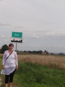 zdjecie wykonane podczas podrozy genealogicznej w sierpniu 2014 -wieś Buk -miejsce urodzenia praprababci Anastazji z Kubatów w roku 1871