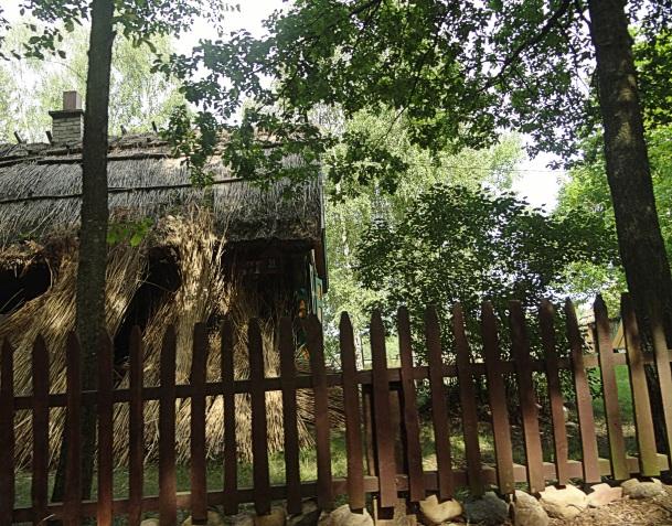 pozostałości doawnej zabudowy we wsi Przyborowie