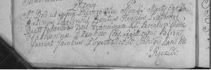3 Marca 1769 Wieś Zuzowy imię dziecka Franciszka córka Tomasza i Katarzyny Dzubów