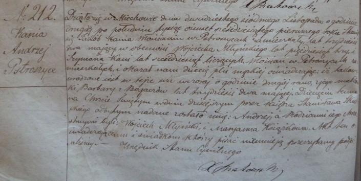 ur 1861 Andrzej Kania s Jakuba i Barbary z Bogaczow