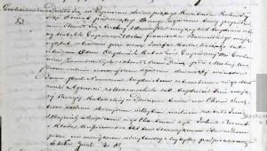kopia aktu urodzenia Wojciecha -pochodzi z księgi przechowywanej w AP Kielce