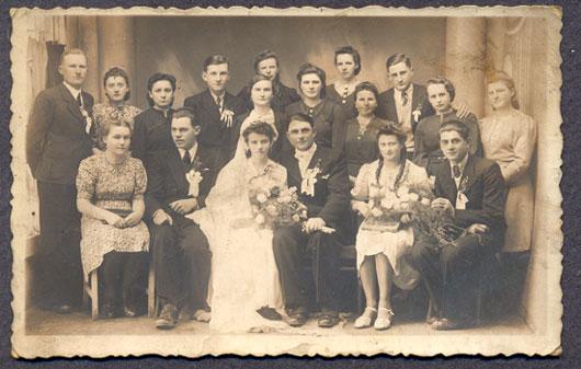 Slub w Miechowie fot. Spiechowicz, lata 30