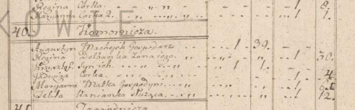 Augustyn Machejek spis ludnosci 1790 a